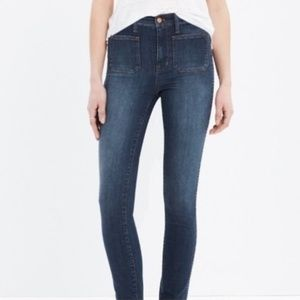 EUC MADEWELL HIGH RISER SAILOR SKINNY JEANS, 29